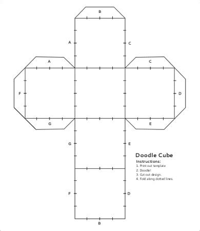 doodle for template cube template 9 free pdf documents free