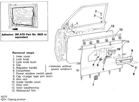 service manual diagrams to remove 2009 mitsubishi outlander driver door panel remove door