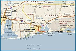 map of pensacola florida and surrounding areas