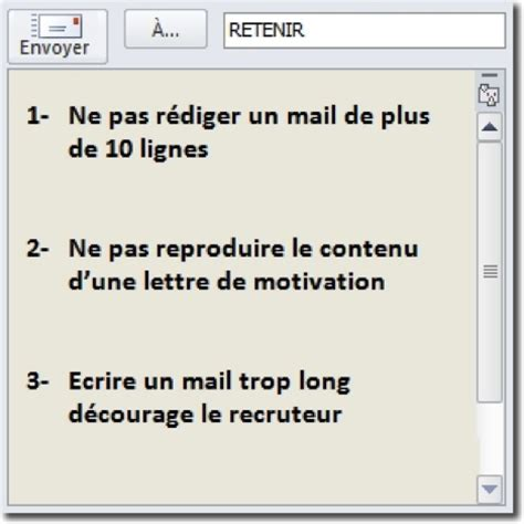 Conseil Lettre De Motivation Par Mail Comment R 233 Ussir Mail De Motivation Cherley Conseil