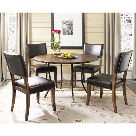 Dining Table With Parson Chairs Hillsdale Cameron 5 Wood And Metal Dining