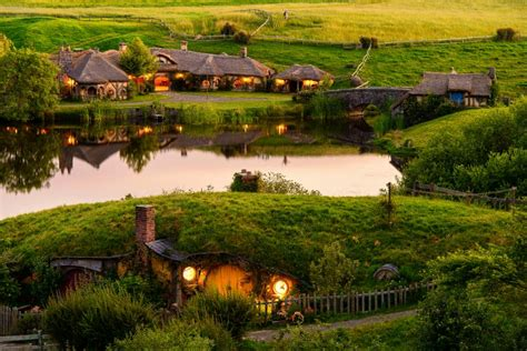 the hobbiton movie set new zealand world for travel tour the hobbiton movie set in matamata new zealand hgtv