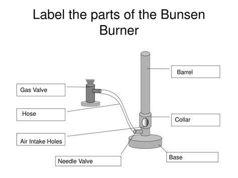 bunsen burner labelled diagram ppt how to light a bunsen burner powerpoint presentation