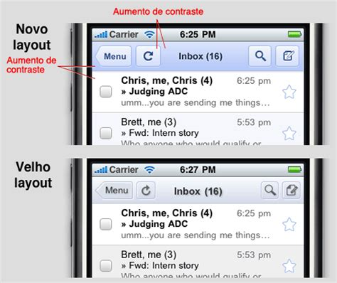 iphone gmail layout google melhora a interface de seus webapps para iphone e