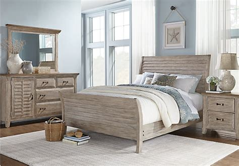 nantucket breeze white 5 pc king sleigh bedroom bedroom