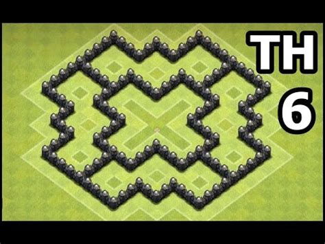 coc layout heart best town hall 6 th6 farming base defense layout in
