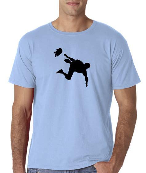 T Shirt Skaters 7 mens skateboard skate silhouette sports skater t shirt ebay