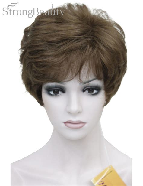 wavy layered wig for african americans strong beauty shag style synthetic full wigs short wavy