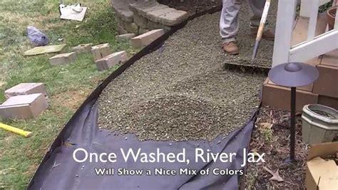 installing a river rock walking path doovi