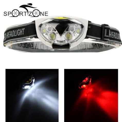 Headl Flashlight Waterproof White Led high quality 1200 lumens headlight 3 modes 2 led 4 white led light waterproof