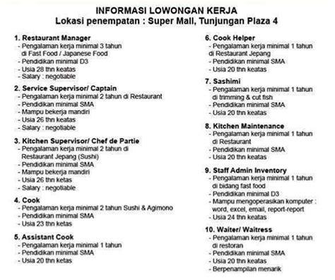 Lowongan Surabaya lowongan kerja surabaya cook lowongan kerja