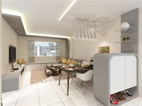 Living Room Design Singapore by Portfolio Ritz Design Work