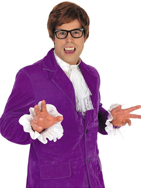 60 age men dress adult austin powers purple costume fs2767 fancy dress ball