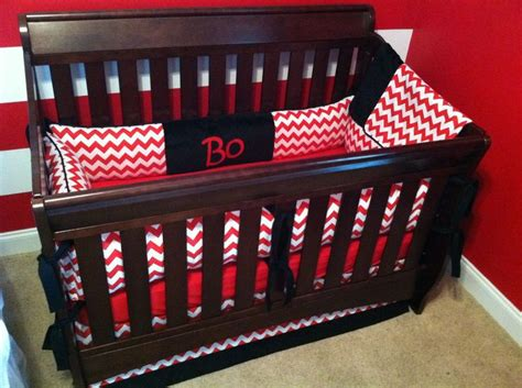 red and black crib bedding red chevron nursery crib bedding with black minky accents and embroidered name custom