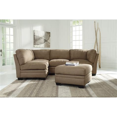 ashley mocha sectional ashley iago 5 piece sectional in mocha 65105 51x2 46x2