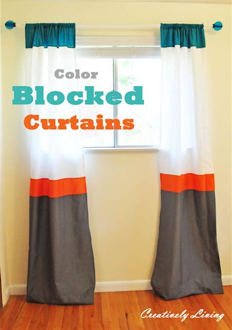 diy color block curtains craftionary