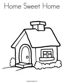 malvorlagen haus home sweet home coloring page twisty noodle