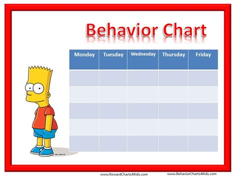 Bad Idea Of The Year Award C Counselors by Smiley Behavior Charts For Weekly Behaviour Charts