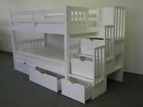 Bunk Bed With Storage Stairs Bunk Beds With Stairs And Slides