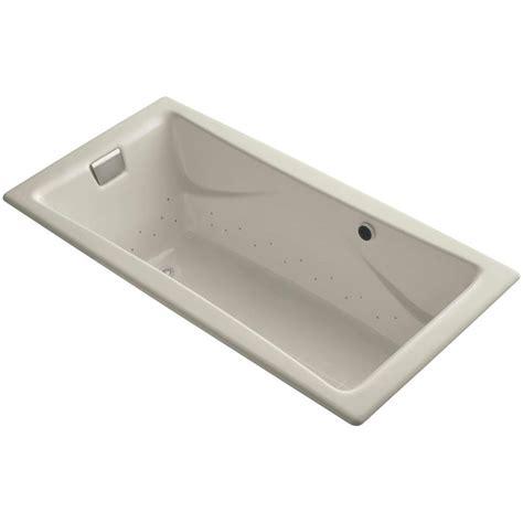 kohler tea for two kohler tea for two 6 ft air bath tub in sandbar k 865 gbn g9 the home depot