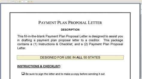 Payment Plan Request Letter Template Payment Plan Letter