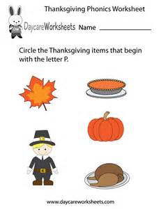 what is thanksgiving for kindergarten free printable thanksgiving phonics worksheet for preschool