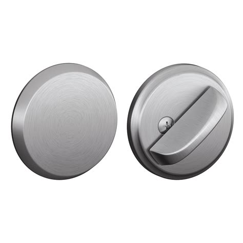 shop schlage keyless satin chrome deadbolt at lowes