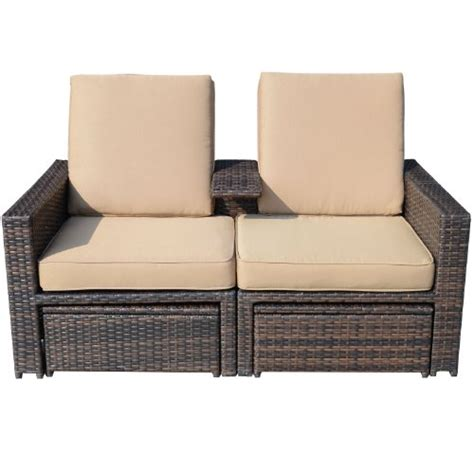 outsunny 3 outdoor rattan wicker chaise lounge furniture set outsunny outdoor 3 pe rattan wicker lounge chair set