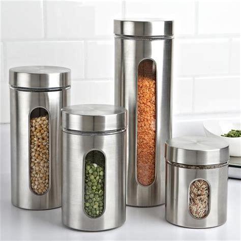 Window Canister 2 4l Tupperware kitchen storage organisation 4 stainless steel