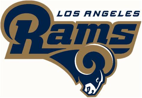 la rams football the new los angeles rams logo falls