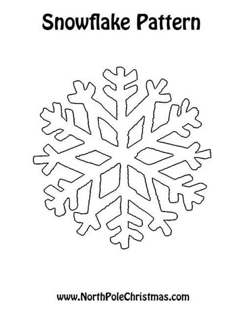 printable heart snowflake template snowflake images to print for more christmas patterns