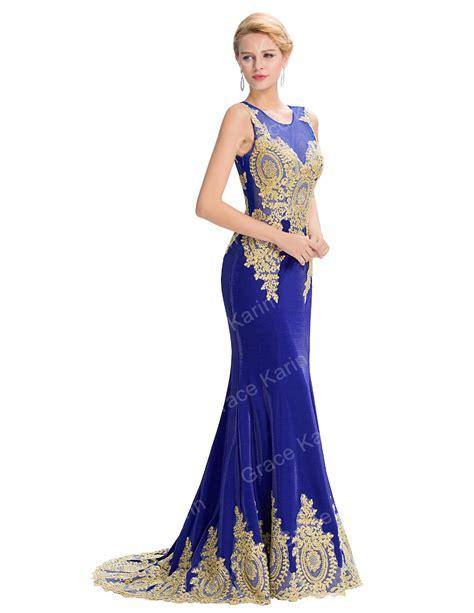 dress grace gowns blue grace karin 2016 sleeveless golden appliques