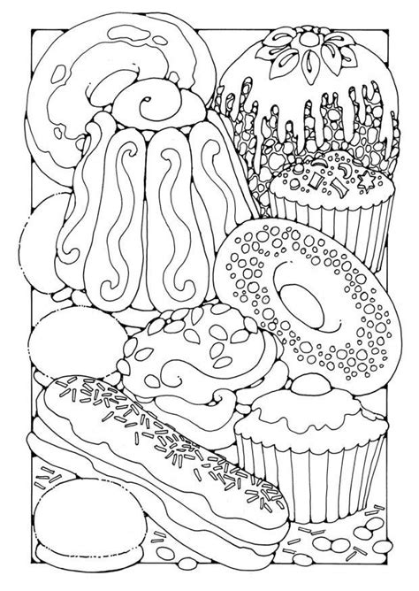 Coloring Page Pastry - free printable coloring pages