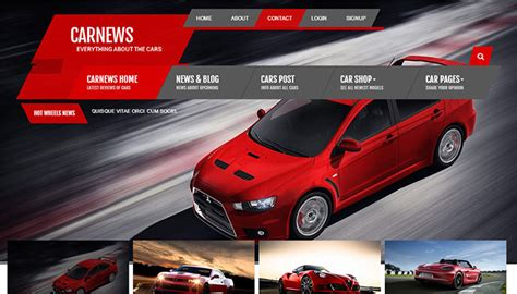 7 Best Car Websites For by 20 Best Cars Website Html Templates Templatemag