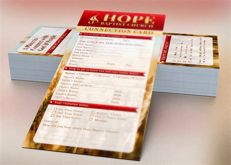 church connect cards template church connection card template inspiks market