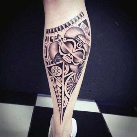 cool calf tattoos for men 60 tribal leg tattoos for cool cultural design ideas