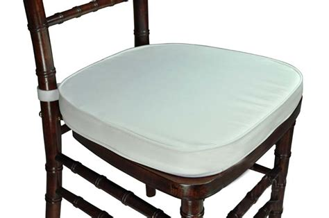 white chiavari cushion with velcro legacy series 2 thick chiavari chair cushion with hook