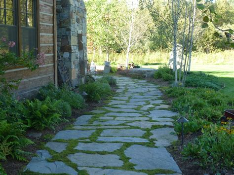 natural rock walkways patios turfcare landscaping