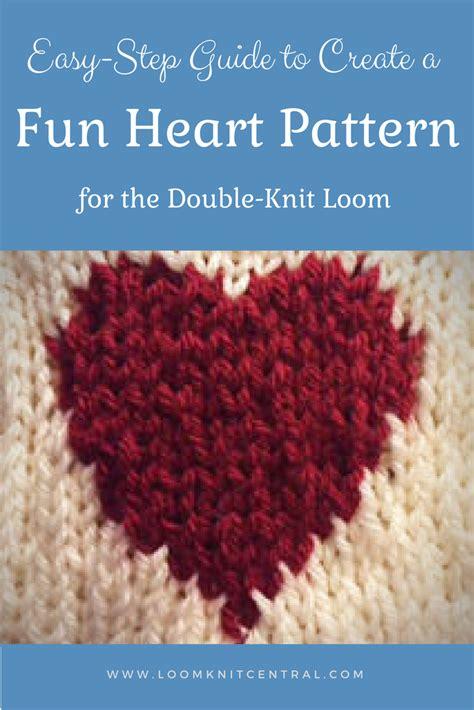 heart pattern loom heart pattern loom knit central