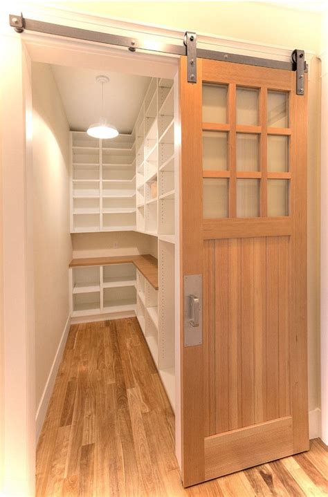 Amazing Door Treatment For Walk In Pantry Kitchen Ideas Barn Door For Pantry