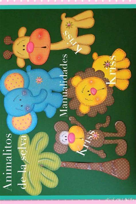 imagenes infantiles en foami las 25 mejores ideas sobre manualidades de la selva de