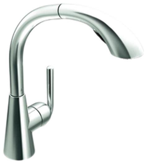moen single lever kitchen faucet moen s71709 chrome high arc pullout kitchen faucet single