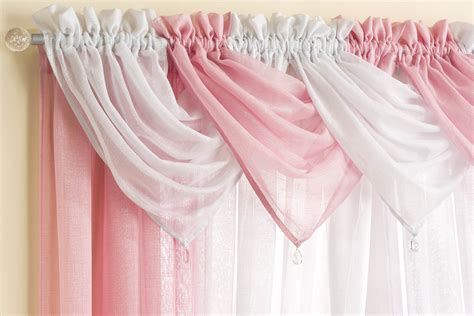 pink swag curtains casablanca pink voile swag