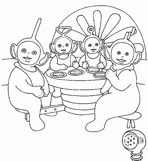 Coloring Pages Free Free Printable Teletubbies Coloring Pages For Kids by Coloring Pages Free