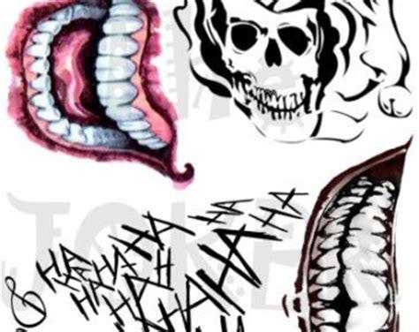 joker tattoo print joker etsy