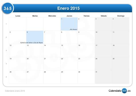 Calendario De Enero Calendario Enero 2015
