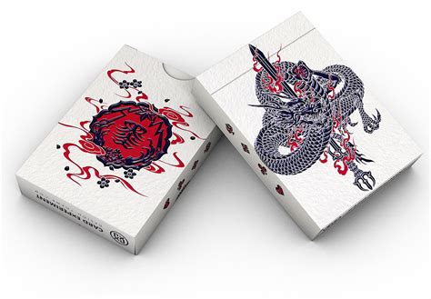 sumi playing cards feature beautiful  bold japanese artwork