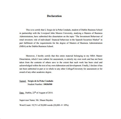 dissertation proposal template 11 free word excel pdf