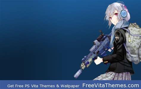 anime girl ps vita wallpaper anime gun girl ps vita wallpapers free ps vita themes
