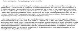 Racism Essay Conclusion by Racism In The Biography Of An Ex Colored At Essaypedia